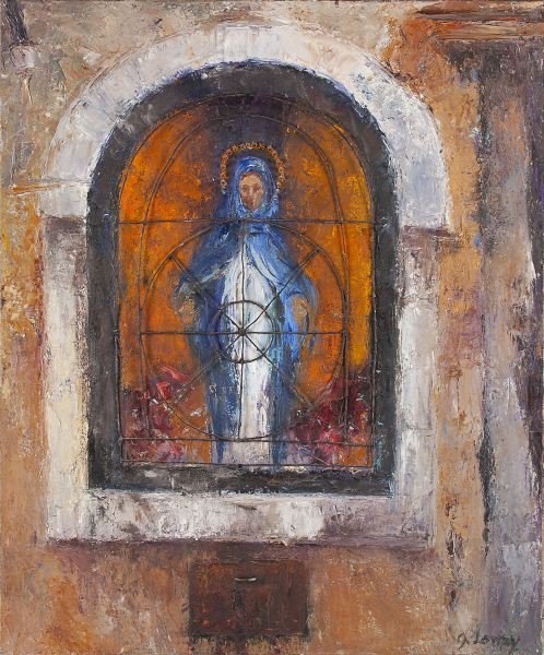 14: Gayle Stott Lowry (NC), Madonna in Window