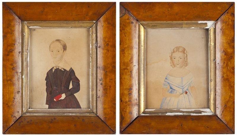 115: Pair of Portrait Miniatures of Children