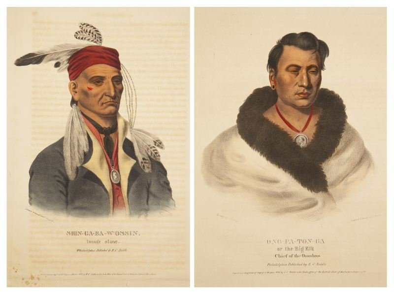 123: Two McKenney & Hall Indian Portraits