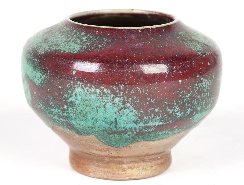 134: NC Pottery Jugtown Chinese Blue