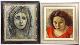 William G. Mangum (NC, B.1924), Two Portraits