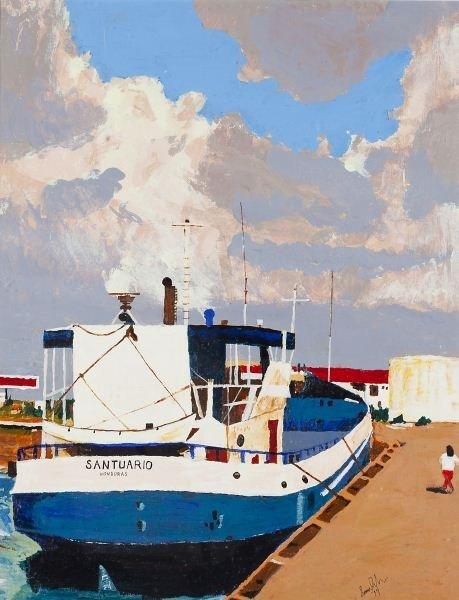 """169: Louis Rubin (NC), """"Cargo Launch - Aruba"""""""