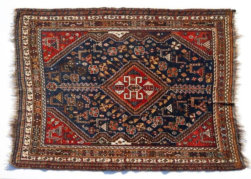 170: Semi-Antique Qashga'i Rug