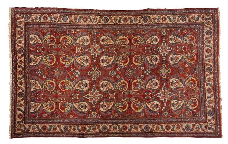 177: Semi-Antique Room Size Persian Rug