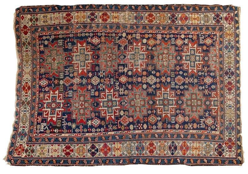181: Antique Caucasian Area Rug