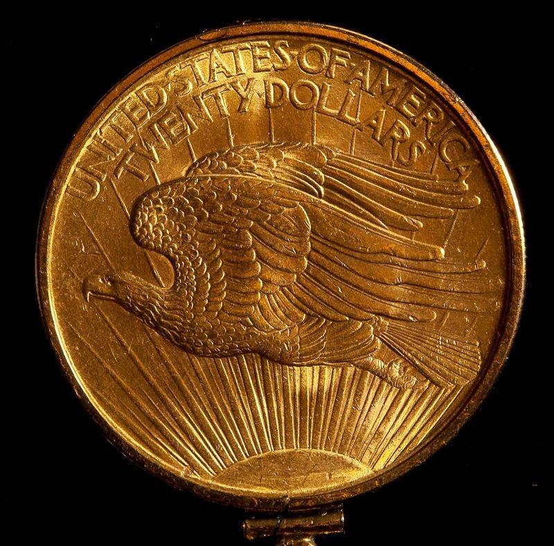 232: 1908 St. Gaudens $20 Gold Double Eagle Pendant - 3