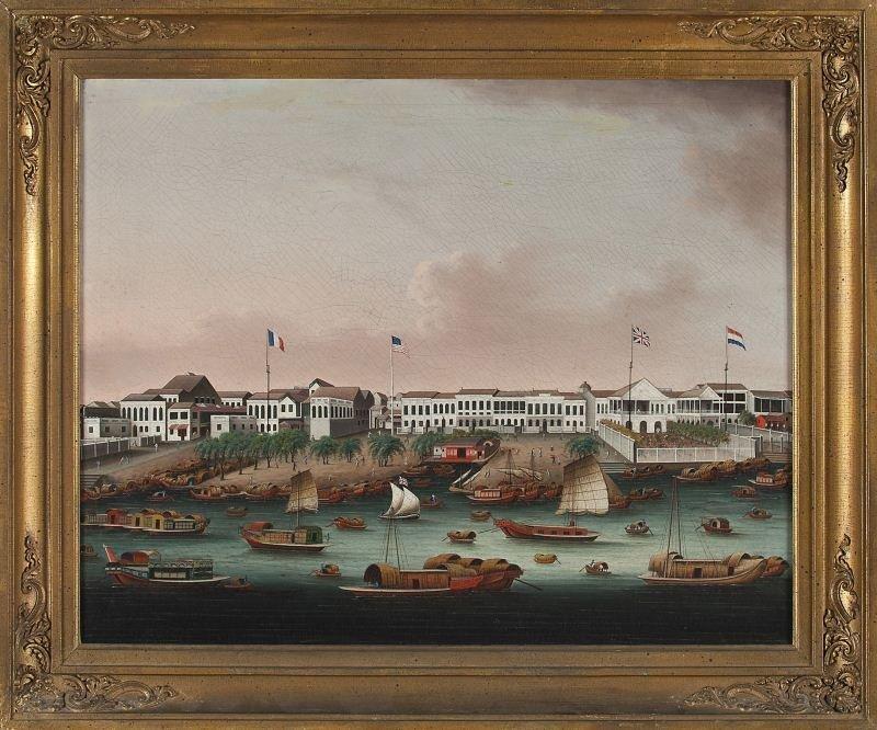 265: Chinese School (circa 1840), The Hongs at Canton
