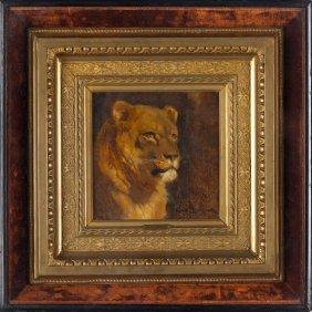 Rosa Bonheur (Fr., 1822-1899), Lioness