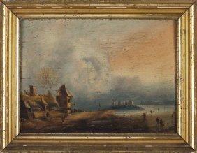 Dutch School Genre Painting, 19th Century