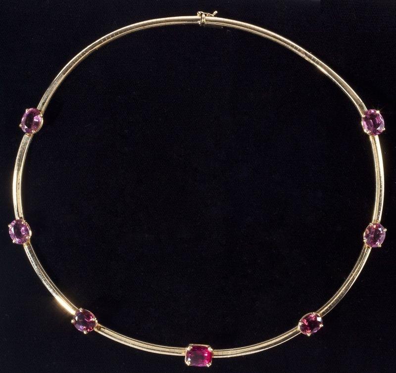404: Tourmaline Omega Necklace