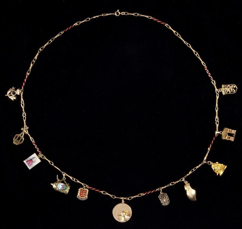 410: Fine Gold and Enamel Charm Necklace, Italian