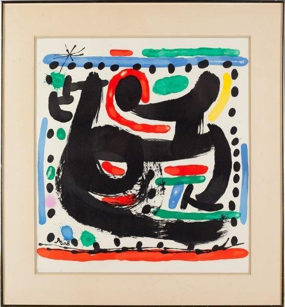413: Joan Miro (Sp., 1893-1983), Lithograph