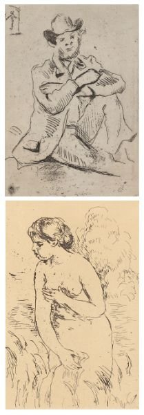 414: Two French Impressionist Etchings