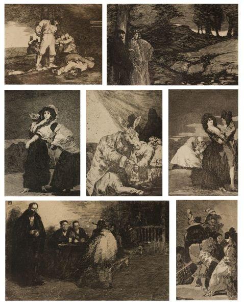 415: Group of Seven Goya & Baroja Etchings