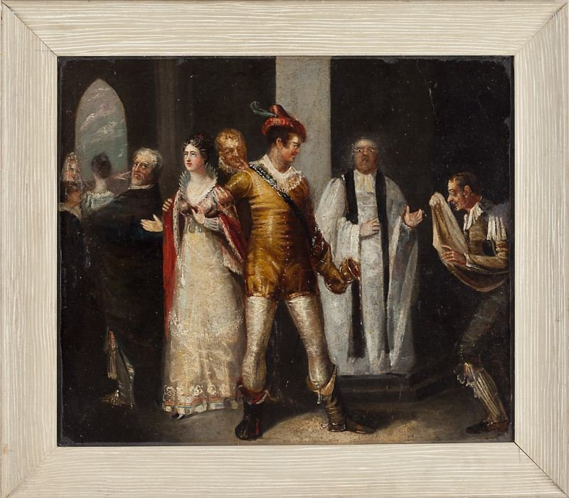 419: Continental School Genre Painting, 19th century