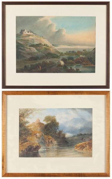 423: Two English School Watercolors, 19th century