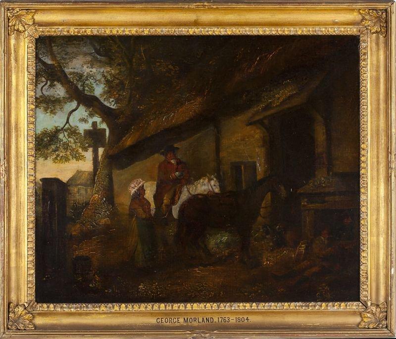 424: manner of George Morland (1763-1804), Stableyard