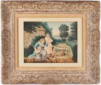 425: English School Folk Art Painting, 19th century
