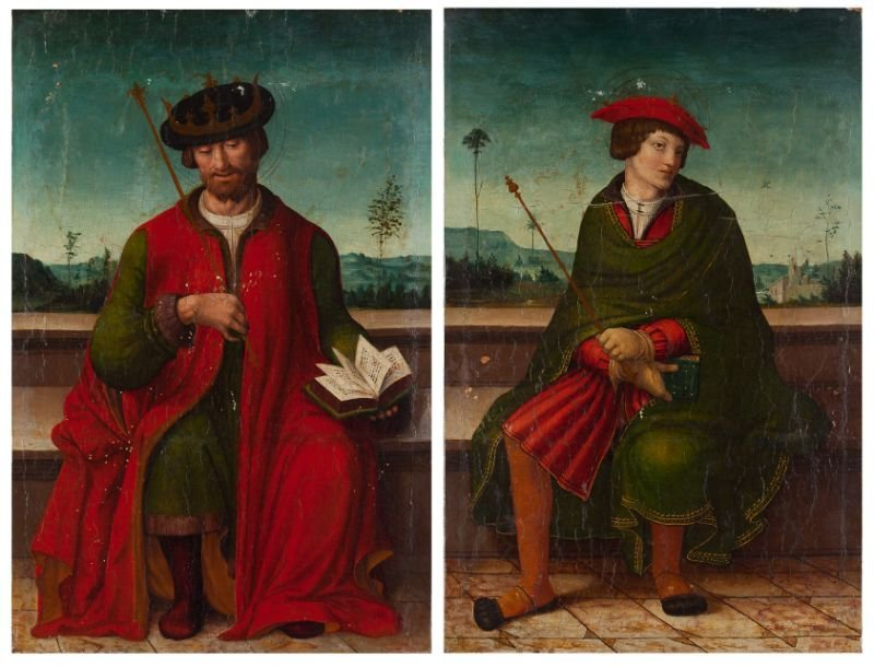 426: Pair of Italian Old Master Paintings, 16th century