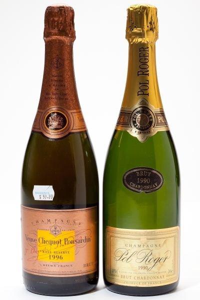 3004: 1990 Pol Roger & 1996 Veuve Clicquot Champagne