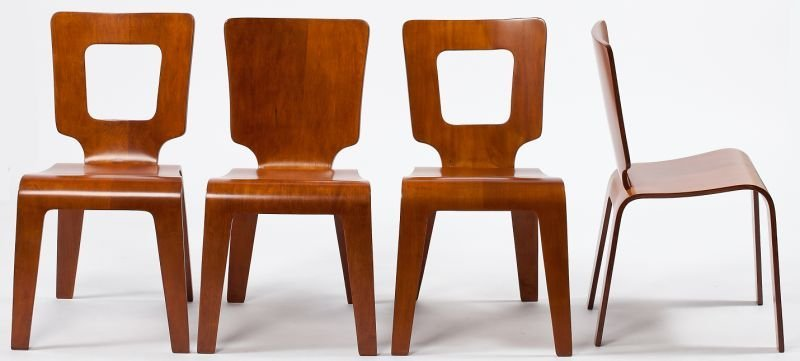 120: Four Thaden and Jordan Bentwood Dining Chairs