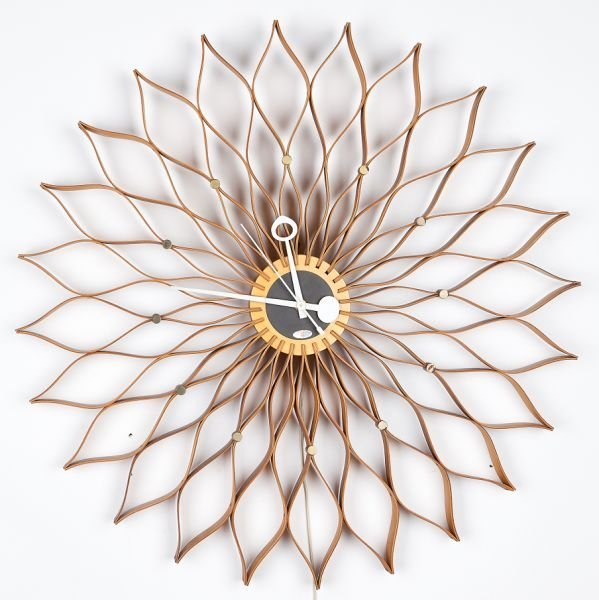 121: George Nelson Associates, Sunflower Clock, 1958