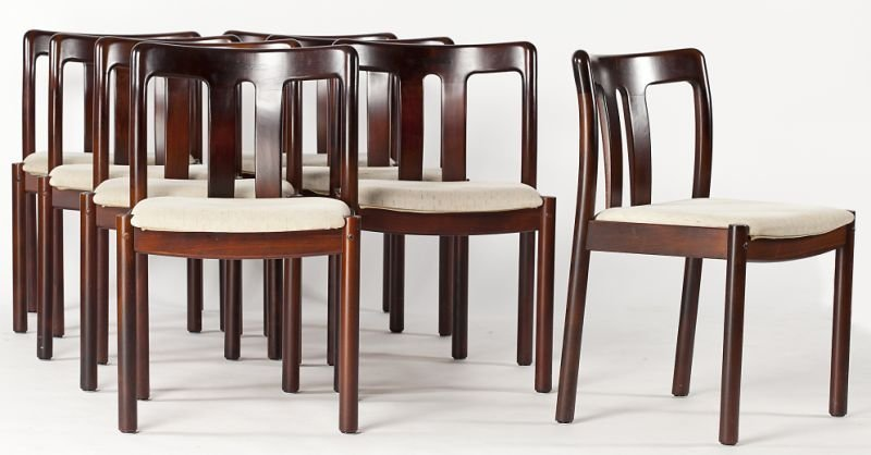 126: Set of Eight Uldum Mobelfabrik Dining Chairs