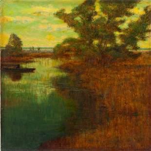 243: Alexander Harrison (Am., 1854-1929), Marshlands