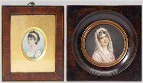 450: Two Continental Portrait Miniatures