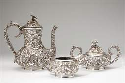 722: Stieff Sterling Silver Repousse Coffee Service