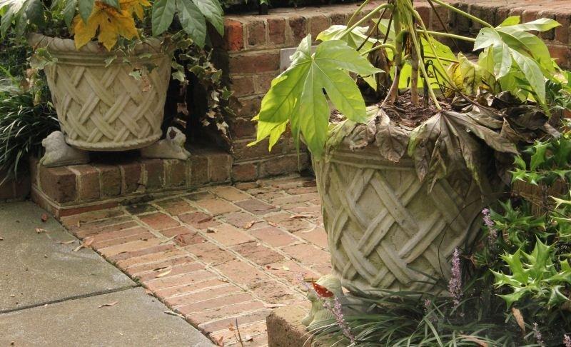 3: Pair of Cast Stone Planters