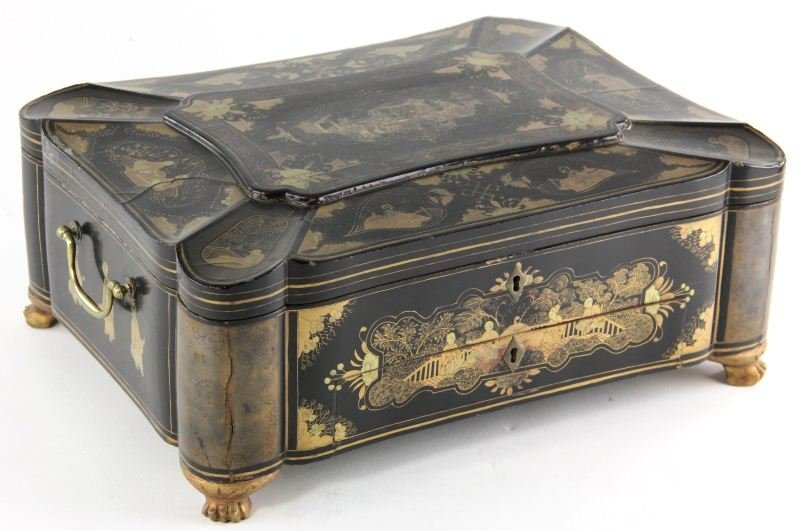 6: Chinoiserie Lacquered Sewing Chest