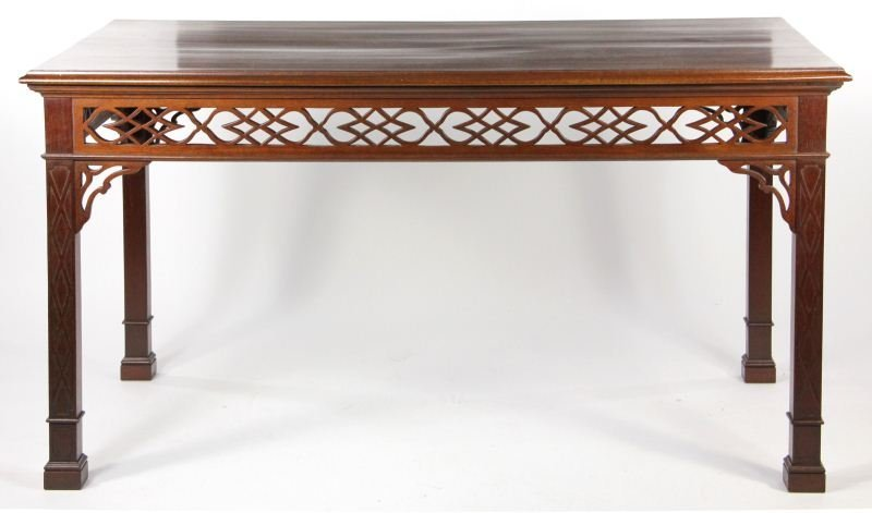 8: Pug Moore Chinese Chippendale Center Table