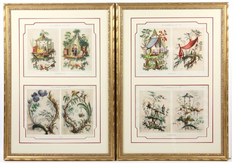 18: Pair of Framed Chinoiserie Prints