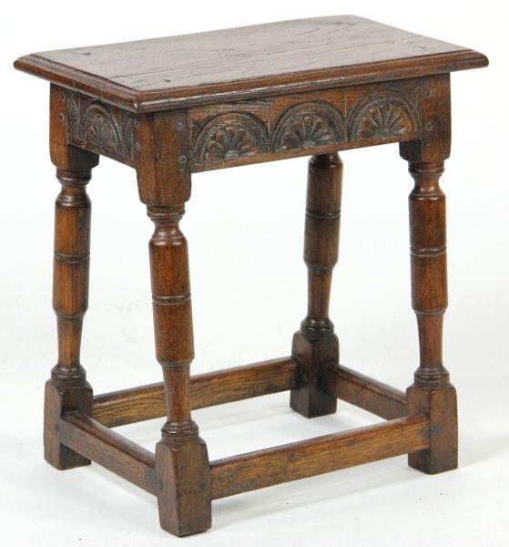 19: Jacobean Revival Oak Side Table