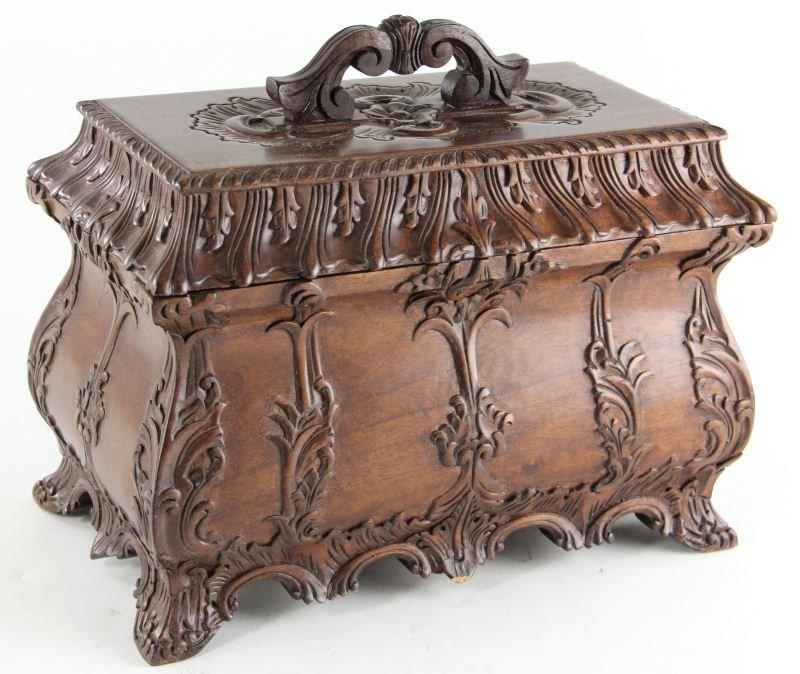 23: Carved Hardwood Jewel Casket