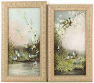 37 Pair of Victorian Panel Paintings