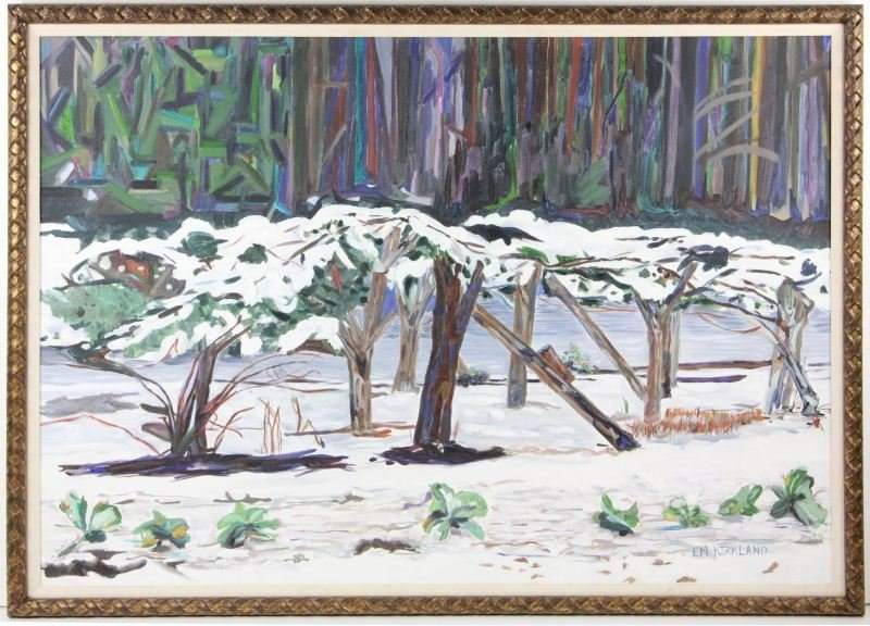 55: Elizabeth M. Kirkland (NC), Snow Scene