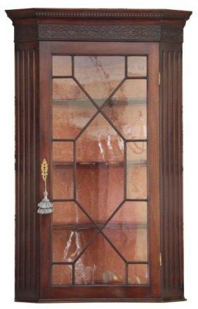 Georgian Mahogany Hanging Corner Cupboard