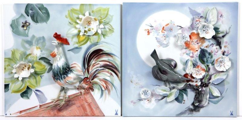 67: Pair of Meissen Porcelain Plaques