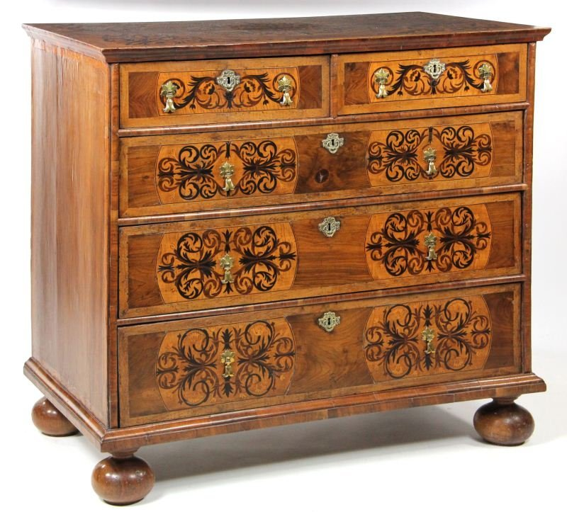 303: Fine William and Mary Marquetry Chest