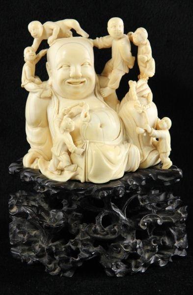 426: Chinese Carved Ivory Budai