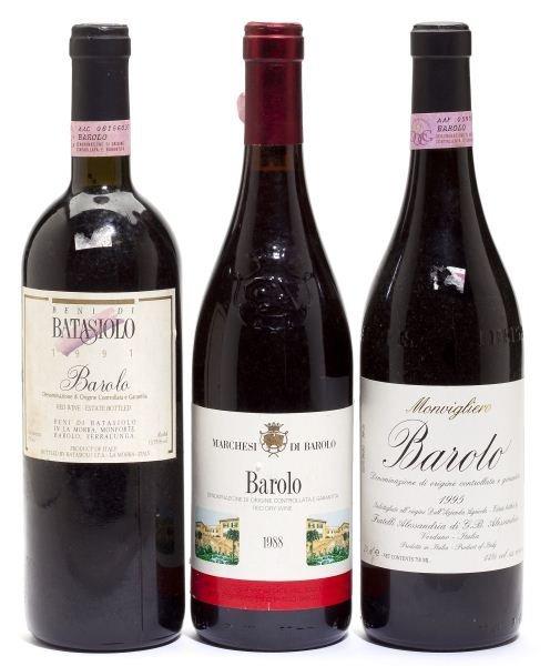 1988, 1991 & 1995 Barolo