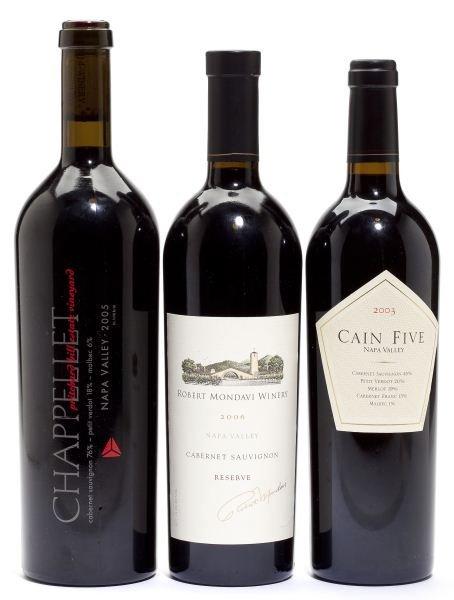2005 Chappellet & 2003 Cain Five & 2006 Mondavi