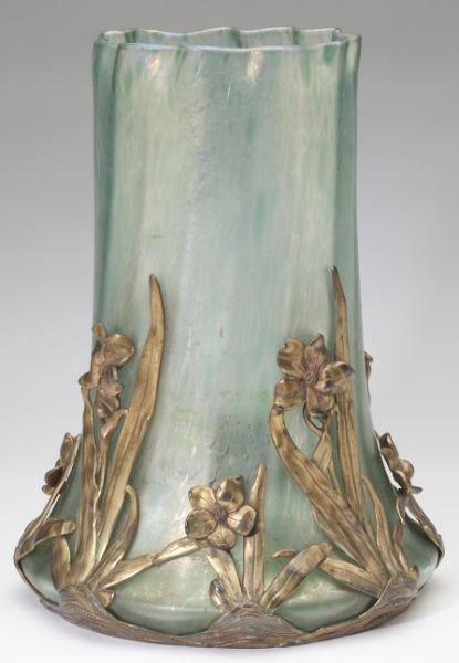 Monumental Loetz Ormolu Mounted Vase