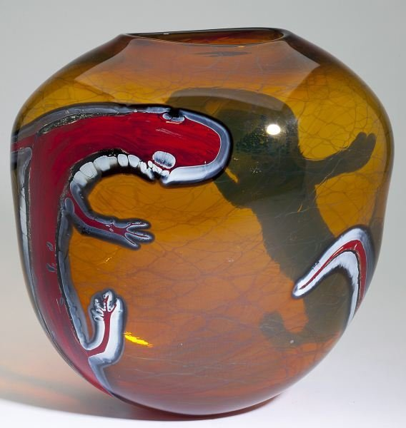 Valerie & Rick Beck (NC), Art Glass Vase
