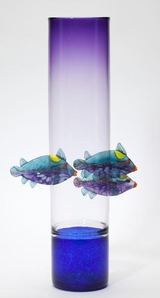 David Leppla (MN, b. 1956), Parrot Fish Vase