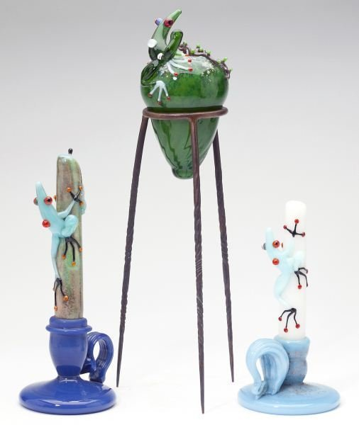 John Nygren (NC), Three Glass Sculptures