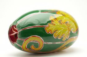 Art Glass Watermelon, Att. Rick & Valerie Beck