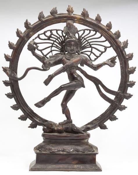 Hindu Bronze Figure of Dancing Shiva